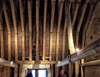 "Interior roof ""truss"" detail of the Château d'Azay-le-Rideau."