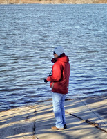 Jim caught me seeking the perfect shot at Calamus Reservoir, NE.  I am wearing a very warm LL Bean coat that Will outgrew in his early teens.  Fits perfectly - so glad I had it that cold morning!