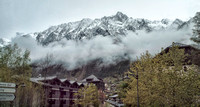 When it came time for us to leave Chamonix we found that there had been a light dusting of snow overnight with the snow cover ending just a few hundred feet up the mountains above the town.