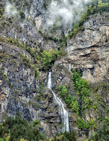 One of many waterfallls in the French Alps on the way south from Chamonix.