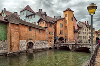 Canal view in Annecy, France.  If walls could talk, the history these buildings hold!