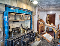 Restored (1912) kitchen in Duart Castle, Mull.