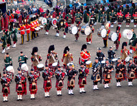 Massed Pipes and Drums.