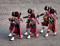 Pipes from the Royal Regiment of Scotland and Royal Scots Dragoon Guards.