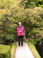 Francie Stoutamire in the Japanese Gardens