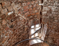 Brick wear was obvious, specialists were due to inspect the tower the day after we visited.