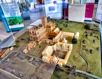 Model of Glastonbury Abbey as it was centuries ago.