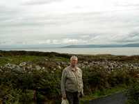 Jim Stoutamire on way down to the Galway Bay beach south of our lodging at the Connemara Coast Hotel