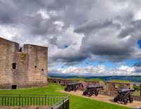 Cannon at the French Spur, Stirling Castle. Probably built by French soldiers just before 1550, on the orders of Mary of Guise, mother of Mary Queen of Scots.