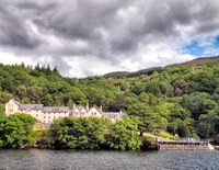 Inversnaid Hotel on the shore of Loch Lomond.