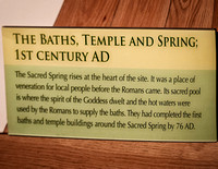 Roman Bath historic marker.
