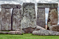 Close up view of Stonehenge from the northwest.