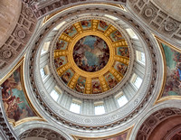 Interior of the dome of the Eglise du Dome Church at the Hotel des Invalides where Napoleon's tomb is located.