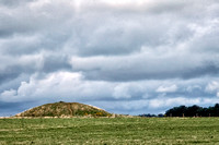 Close up of one of the Great Cursus Barrows northwest of Stonehenge.