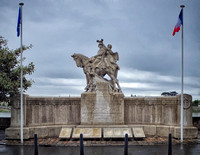 World War I and II monument on the banks of the Loire River in Saumur.