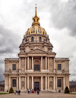 Entrance to the Eglise du Dome Church at the Hotel des Invalides where Napoleon's tomb is located.