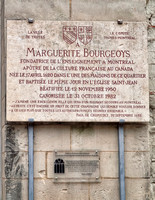 Memorial to Marguerite Bourgeoys, born in Troyes.  She was the French foundress of the Congregation of Notre Dame of Montreal in the colony of New France, now part of Canada.