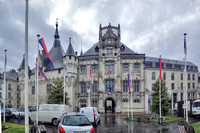 Saumur city hall which used to be the bridge head when the Loire River ran right in front of the building.