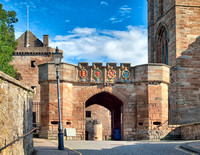 Fore entrance (built by James the V in 1533) to Linlithgow Palace, birthplace of Mary Queen of Scots.