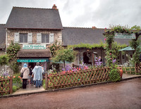 After touring Monet's garden and home we stopped here for coffee and a wonderful apple pastry, extra nice after walking in the chilly rain!