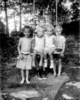First, some memories L>R Don, Ken, Francie and standing in back Bob and Scootie; best guess ca. 1952.