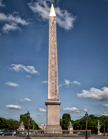 Close up of the Obelisk of Luxor in the Place de la Concorde.