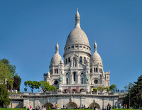 Close up of the Basilica of the Sacred Heart of Paris, commonly known as Sacré-Cœur Basilica.