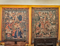 Tapestries in the Hospices de Beaune.