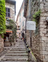 Streets of St. Paul de Vence.  Much like Eze, narrow and steep.