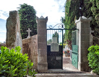 Gate to the cemetery at the south end of St. Paul de Vence which includes the grave of the painter Marc Chagall.