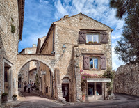 Street scene in St. Paul de Vence.