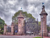 Entrance gate, Holyrood Palace, Edinburgh.