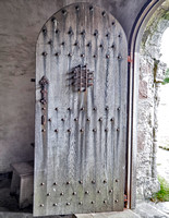 Door to Caibeal Odhrain/St. Oran's Chapel dating to the 1100s the oldest intact building on Iona.