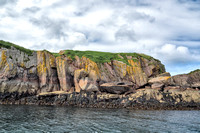 Interesting rocks and color on a small island just off Mull on the west side of the Bullhole where the Iona/Fionnphort ferry ties up at night.
