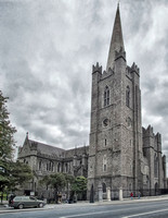 Looking Southeast at Saint Patrick's Cathedral in Dublin, Ireland, built between 1191 and 1270.