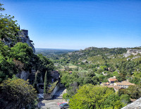 View to the southwest from the western side of Les Baux-de-Provence.