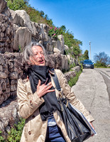 We stopped to see the ruins of Château des Baux with the Mistral in full force as you can see by the cloud of hair blowing around the face of Virginie Gravier our Tour Director.