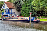 Traditional style canal boat.
