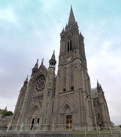 St Colman's Cathedral, Cobh, Ireland stands high on a hill overlooking Cork Harbor.