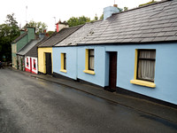 The dying man house street original location from the 1951 filming of The Quiet Man; in Cong, County Mayo, Ireland.