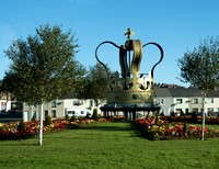 Passing through Larne, Northern Ireland, at the A2 roundabout we got a glimpse of the Jubilee Crown. A 24 foot high steel replica of a coronation crown.