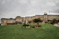 Outer walls of the Château de Caen that was built c. 1060 by William the Conqueror.