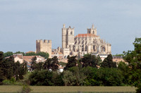 Seen from the highway on the way from Nimes to Carcassonne is the Narbonne Cathedral was dedicated to Saints Justus and Pastor.