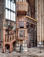 The pulpit is a fairly recent addition to the Cathedral having been built in 1898 in the Gothic Perpendicular style.