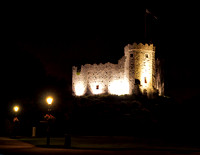 As we left the dinner the Norman Keep stood watch over the darkened Castle.