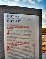 Pointe du Hoc historic marker.   During WWII it was the highest point between Utah Beach to the west and Omaha Beach to the east.