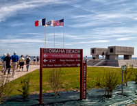 National Guard monument at Vierville-sur-Mer on Omaha Beach.