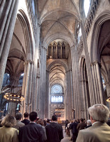 Interior of the Cathédrale Notre-Dame de Rouen. There was a service going on so unfortunately we did not get a chance to see the tomb of Richard the Lionheart which contains his heart.