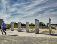 It was a very special moment to see the American flags flying at the entrance to the Pointe du Hoc Rangers Monument.