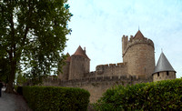 Looking at the northeast outer walls of Carcassonne